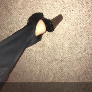 Black Long Thigh Boots